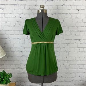 Loft Ann Taylor wrap style top with tie back